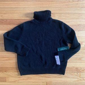Vintage Ralph Lauren L Cotton Turtleneck Sweater